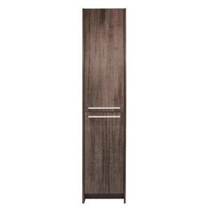 "Armoire latérale, 2 portes, 15,75"" x 74,75"", mélamine, brun"