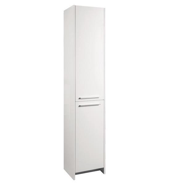 "Armoire latérale, 2 portes, 15,75"" x 74,75"", MDF, blanc"