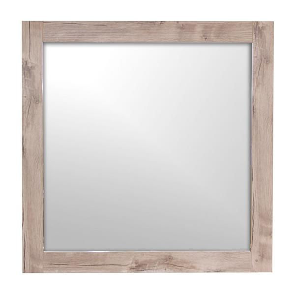 Luxo Marbre Relax 29.5-in x 30-in MDF Natural Wood Mirror