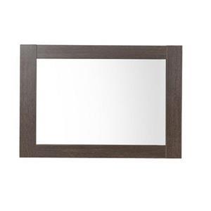 Luxo Marbre Relax 35.5-in x 29.5-in Melamine Alamo Oak Mirror