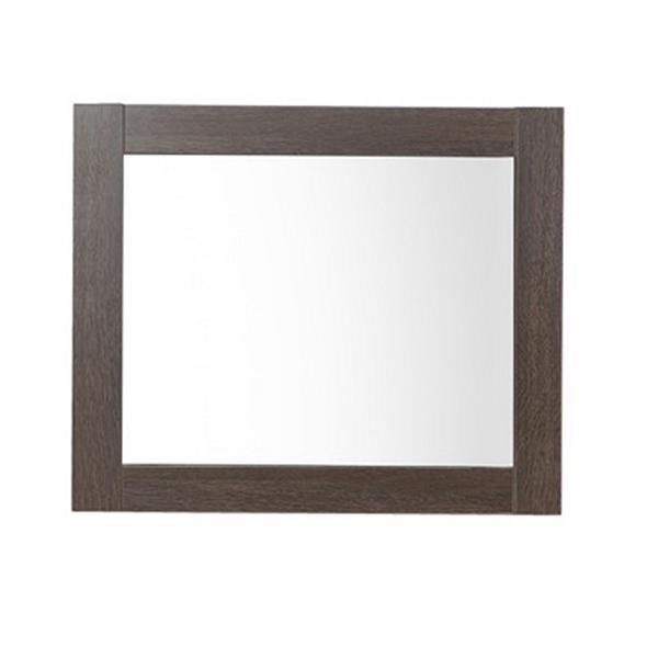 Luxo Marbre Relax 29.5-in x 30-in MDF Brown Wood Mirror