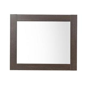 Luxo Marbre Relax 29.5-in x 30-in MDF Brown Wood Mirror