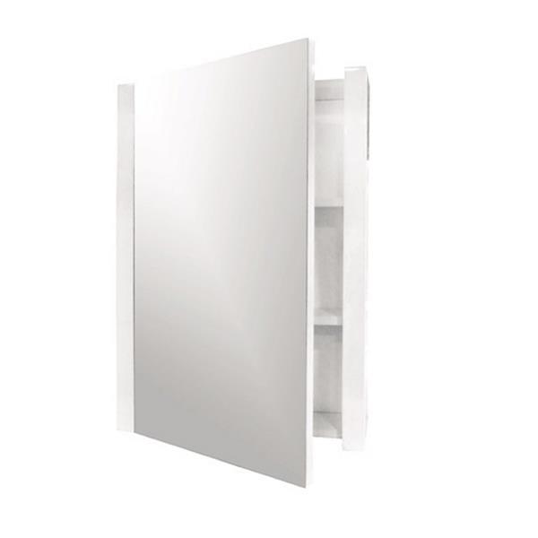 Luxo Marbre Relax 17.75-in x 31.5-in White Mirrored Medicine Cabinet