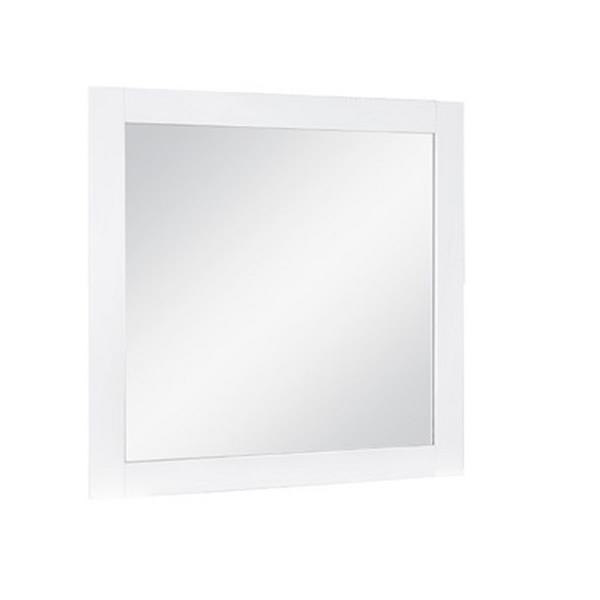 Luxo Marbre Relax 30-in x 29.5-in MDF White Mirror