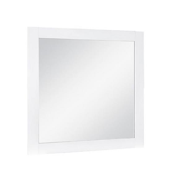 "Miroir Relax, 30"" x 29,5"", MDF, blanc"
