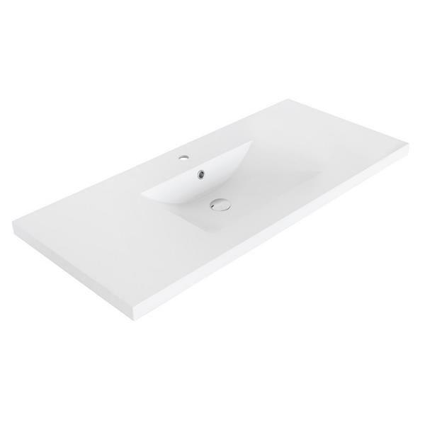 Luxo Marbre Relax 48.25-in Brown Bathroom Vanity with Marble Top