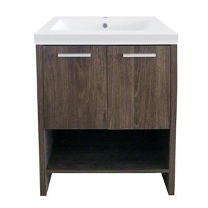 Luxo Marbre Relax 24.25 Brown Bathroom Vanity with Marble Top