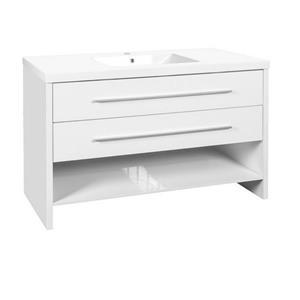 "Vanité Relax avec lavabo, 2 tiroirs, 48,25"", MDF, blanc"