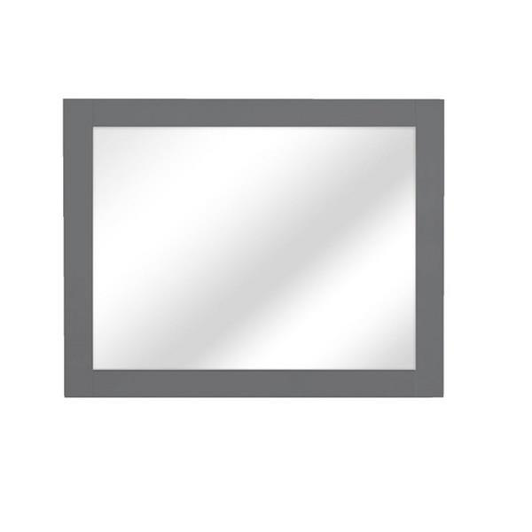 Luxo Marbre Classic Mirror 35.5-in x 29.5-in MDF Light Grey