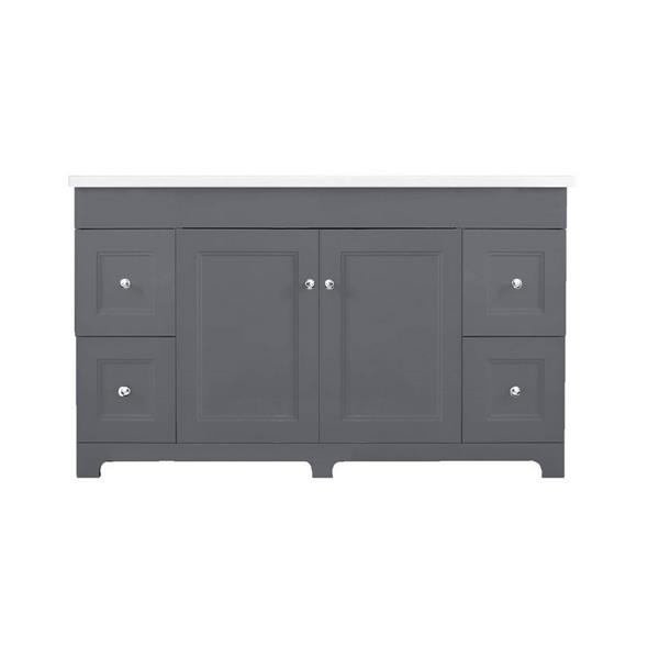 Classic 48-in Gray Bathroom Vanity with Marble Top