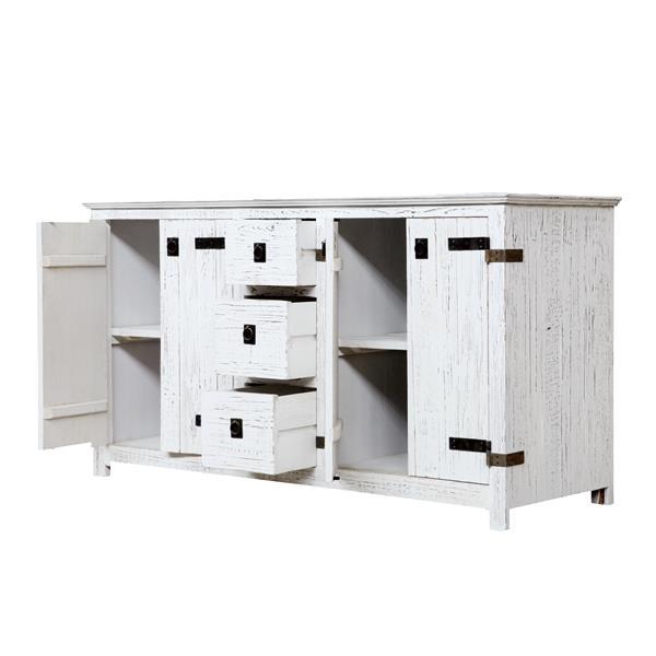 Artisan 60-in x 32-in White 2 Sinks Wood Vanity