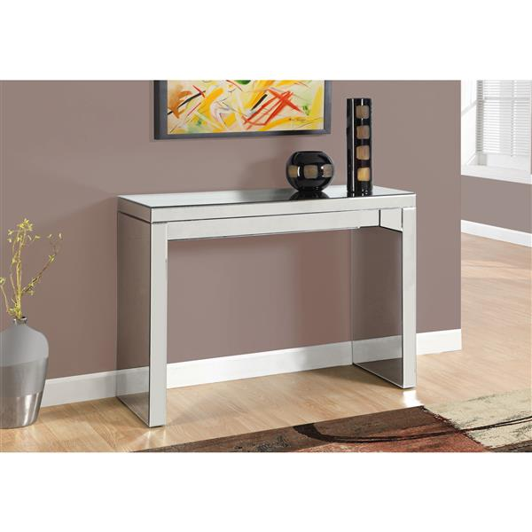 Monarch 42-in x 32-in Glass Accent Table