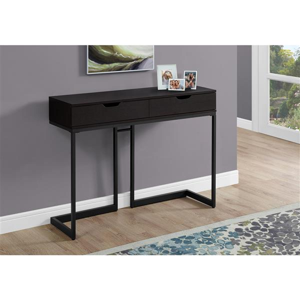 Monarch 41.75-in x 32-in Brown Composite Accent Table