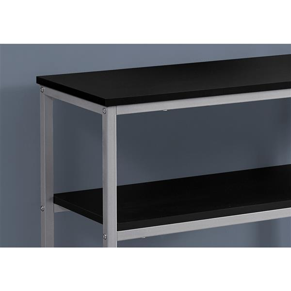 Monarch 42-in x 32-in Black Composite Accent Table