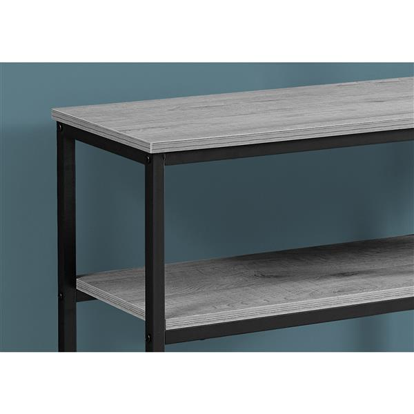 "Table d'appoint Monarch, 42"" x 32"", composite, gris"