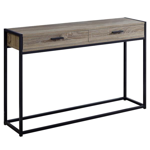 Monarch 48-in x 32-in Dark Taupe Composite Accent Table