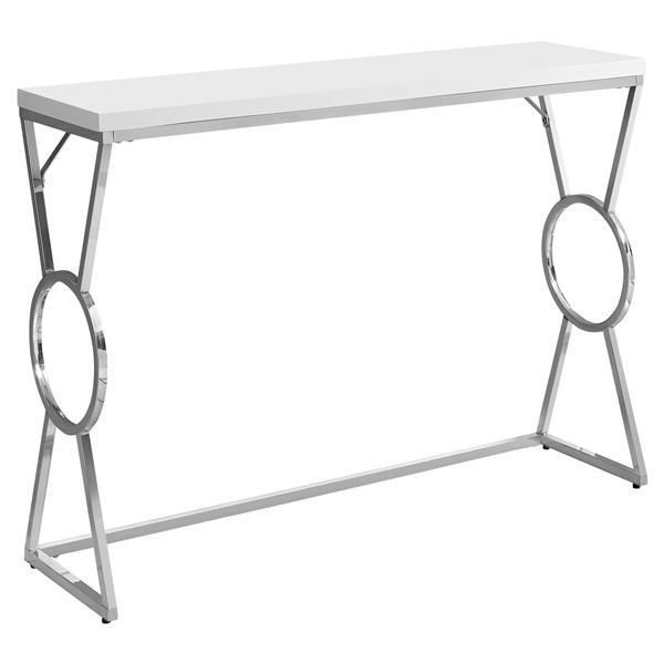 "Table d'appoint Monarch, 42,25"" x 30,5"", composite, blanc"
