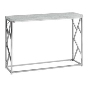 "Table d'appoint Monarch, 44"" x 30,5"", composite, gris"