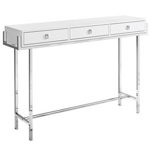 Monarch 48-in x 31.75-in White Composite Accent Table