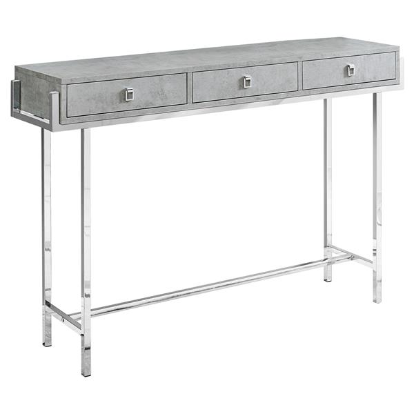 Monarch 48-in x 31.75-in Gray Composite Accent Table