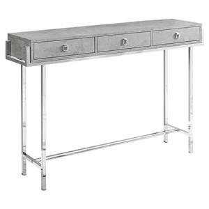 "Table d'appoint Monarch, 48"" x 31,75"", composite, gris"