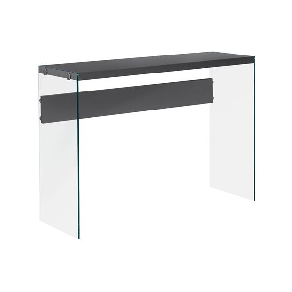 Monarch 44-in x 32-in Gray Composite Accent Table