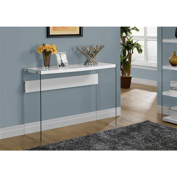 Monarch 44-in x 32-in White Composite Accent Table