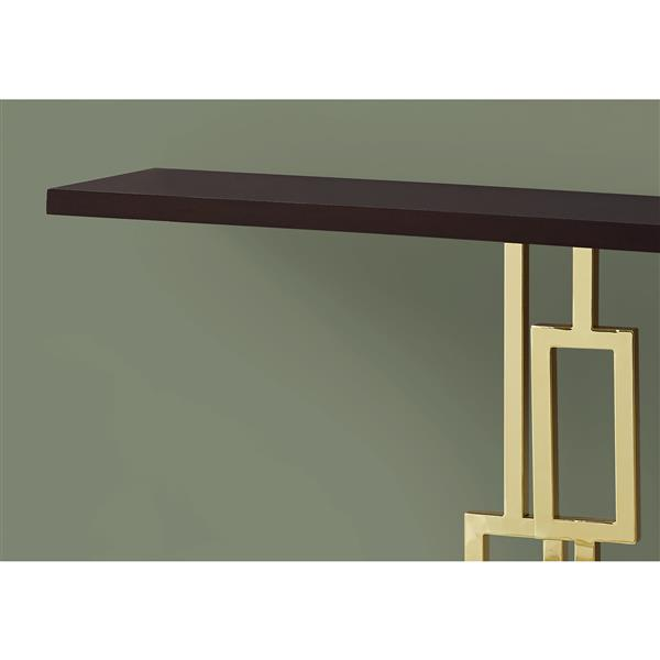 Monarch 47.25-in x 31.75-in Cappuccino Accent Table