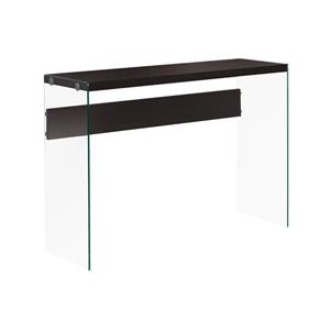 "Table d'appoint Monarch, 44"" x 32"", verre, cappuccino"