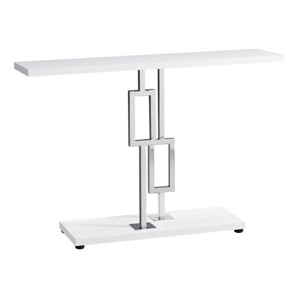 """Table d'appoint Monarch, 47,25"""" x 31,75"""", composite, blanc"""