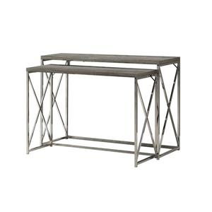 "Tables d'appoint Monarch, 46"" x 32,5"", brun, ens. de 2"