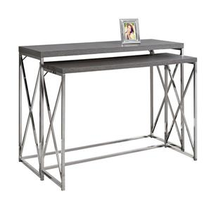 Monarch 46-in x 32.5-in Gray Composite Accent Table