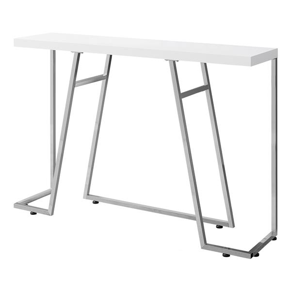 "Table d'appoint Monarch, 47,25"" x 32"", composite, blanc"