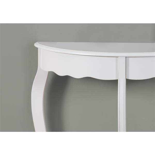 "Table d'appoint Monarch, 30,75"" x 32"", composite, blanc"