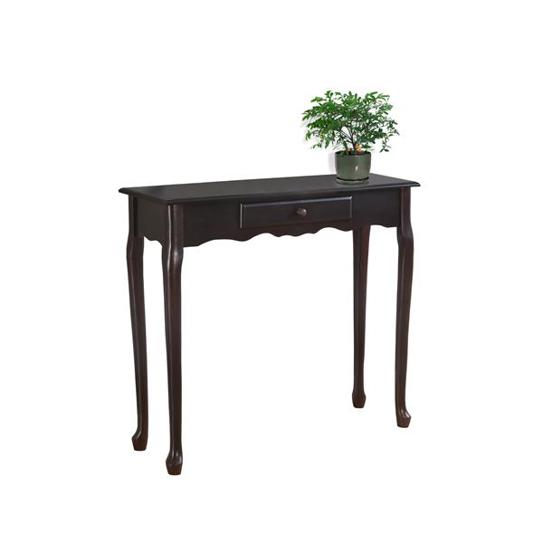 Monarch 36-in x 32.25-in Brown Composite Accent Table