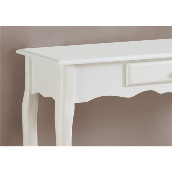 Monarch 36-in x 32.25-in White Composite Accent Table
