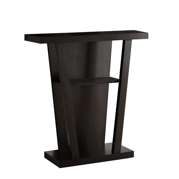 Monarch 33.75-in Composite Brown Accent Table