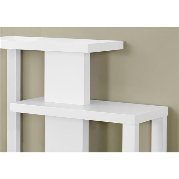 Monarch 34-in White Composite Accent Table