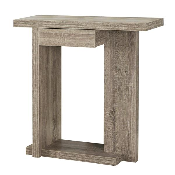 Monarch 33.25-in Composite Brown Accent Table