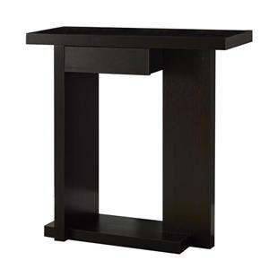 "Table d'appoint Monarch, 31,5"" x 33,25"", composite, brun"