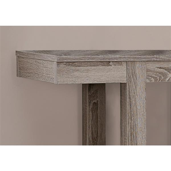 Monarch 34-in Dark Taupe Composite Accent Table