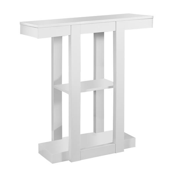 """Table d'appoint Monarch, 31,5"""" x 34"""", composite, blanc"""