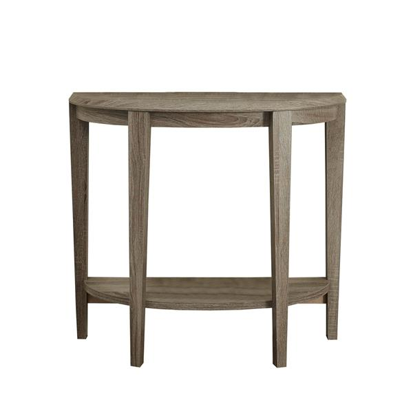 Monarch 32.5-in Composite Brown Accent Table