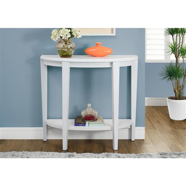 Monarch 36-in x 32.5-in White Composite Accent Table