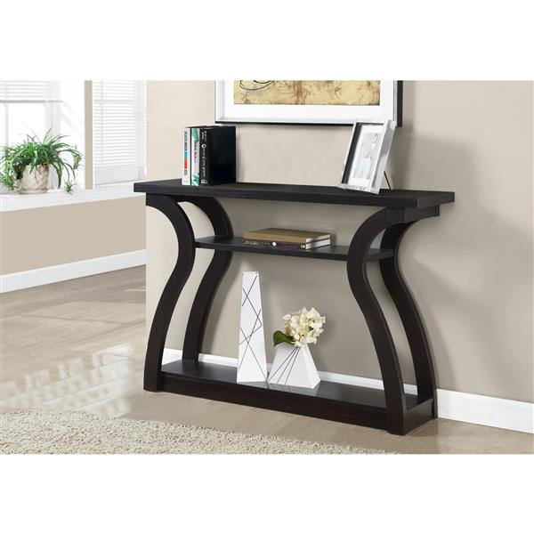 Monarch 32-in  Composite Brown Accent Table