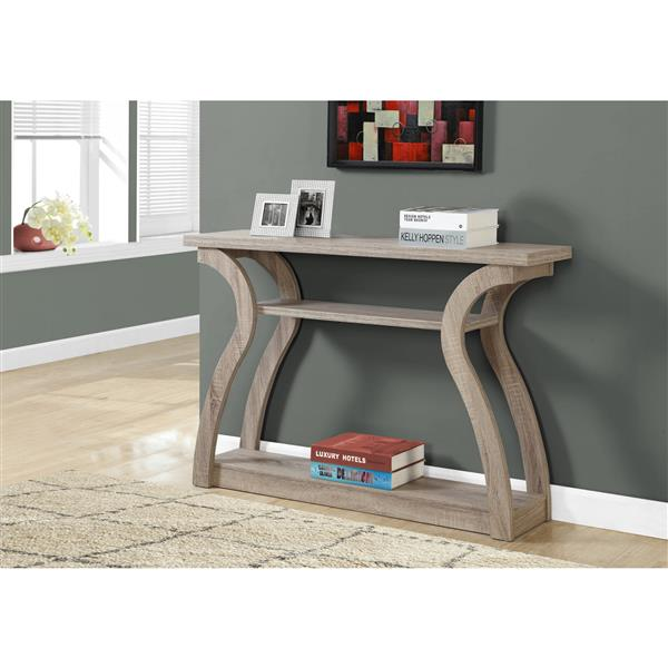 Monarch 32-in Taupe Accent Table