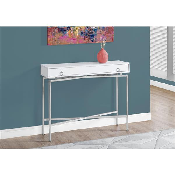 Monarch 42.5-in x 32.5-in White Composite Accent Table
