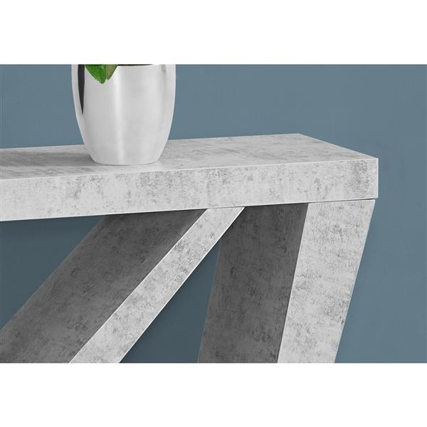 "Table d'appoint Monarch, 47,25"" x 32"", composite, gris"