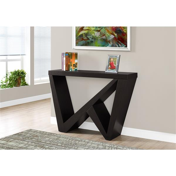 Monarch 47.25-in x 32-in Cappuccino Composite Accent Table