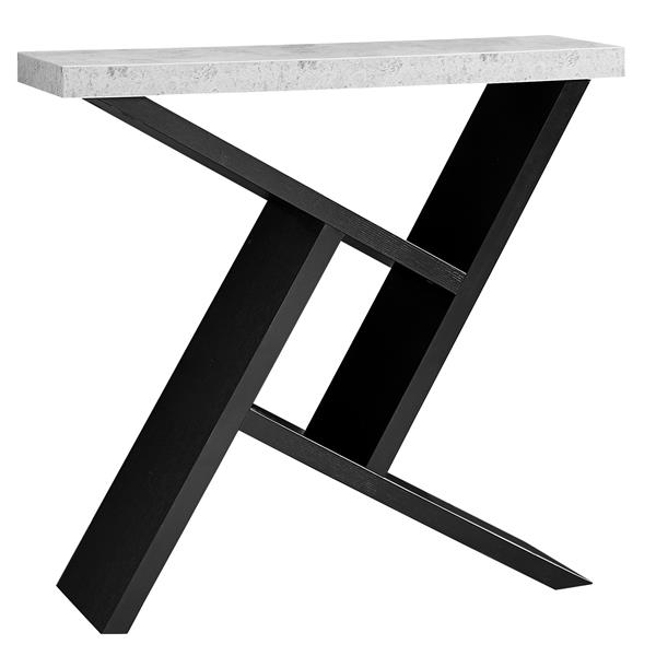 Monarch 35.5-in x 34-in Black Composite Accent Table